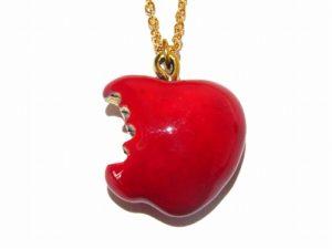 かじられリンゴの ネックレス【 Imported Band 】真鍮アクセサリー