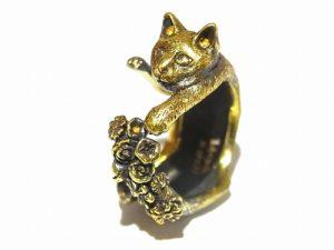 素敵なしっぽ猫 リング【 ホアシ ユウスケ Yusuke Hoashi 】 真鍮