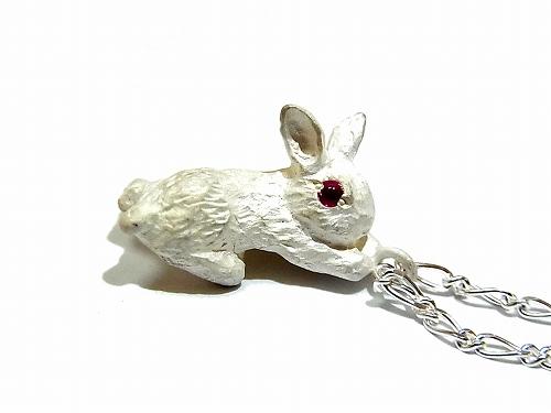 ウサギ ペンダント ( ホワイト ) 【 DECO vienya / デコ ヴィーニャ 】