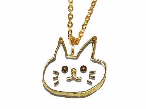 ねこちゃん ネックレス【thuthu appetizing accessories/nupi】 ハンドメイド 真鍮 アクセサリー