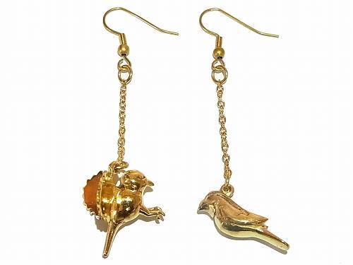 2羽の小鳥 ピアス【 Imported Band / インポートブランド】真鍮 アクセサリー