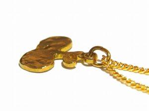 ちいさいりんご ネックレス【thuthu appetizing accessories/nupi】 ハンドメイド 真鍮 アクセサリー