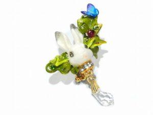 ウサギのイヤーカフ 森のささやき ~兔編~【Wadou-koubou/和道工房】