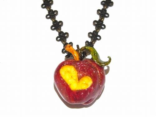毒りんご ネックレス【Wadou-koubou/和道工房】樹脂粘土 アクセサリー