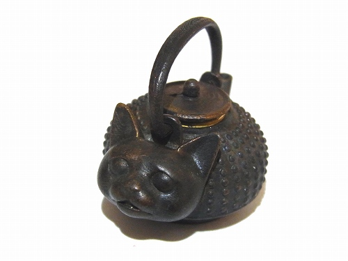 ねこ瓶 ペンダントトップ【 いもゆで工房】銅製 アクセサリー