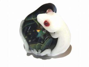 星空と守宮 【 ケンタロー × ノーザンライツ 】 ヤモリ ガラス ペンダントトップ
