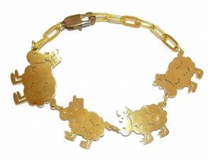 羊の群れ ブレスレット 【 Imported Band / インポートブランド】真鍮 アクセサリー