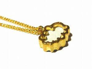 ちいさいそらのくも ネックレス【thuthu appetizing accessories/nupi】 ハンドメイド 真鍮 アクセサリー