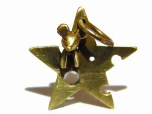 ひょっこりネズミ トップ・星チーズ【 林檎屋 】真鍮 アクセサリー