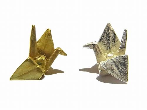 折鶴 ピアス 【 Palnart Poc/パルナートポック】折り紙 アクセサリー