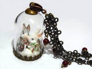 2018 X'smas 「聖夜の祈り」 ウサギ ネックレス