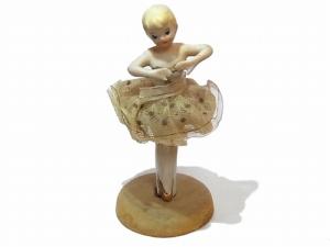 バレリーナ 陶器 人形 【1920年代】 ビンテージ ドール
