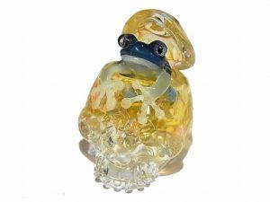 考えに考える【 kengtaro / ケンタロー 】 カエル ボロシリケイトガラス ペンダントトップ