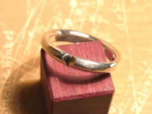 カットハートのリング【林檎屋 】 シルバー アクセサリー