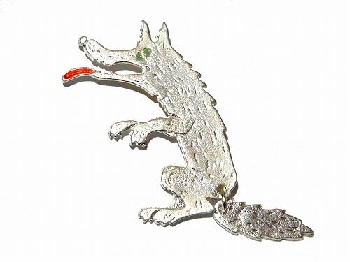 腹ペコオオカミ ブローチ (シルバーウルフ)【Luccica/ルチカ】レディース アクセサリー