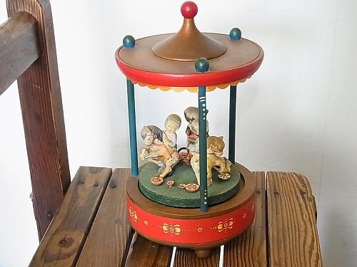 ヴィンテージ メリーゴーランド オルゴール【THORENS / トーレンス】1967年 スイス製 遊園地 ビンテージ トイ アンティーク