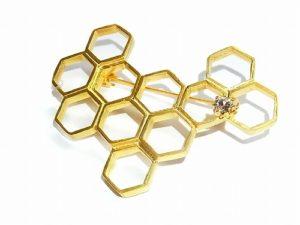 ハチの巣 ブローチ 【Luccica/ルチカ】レディース アクセサリー