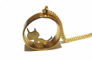 ぬぴのすがた ネックレス 【thuthu appetizing accessories/nupi】 ハンドメイド 真鍮 アクセサリー